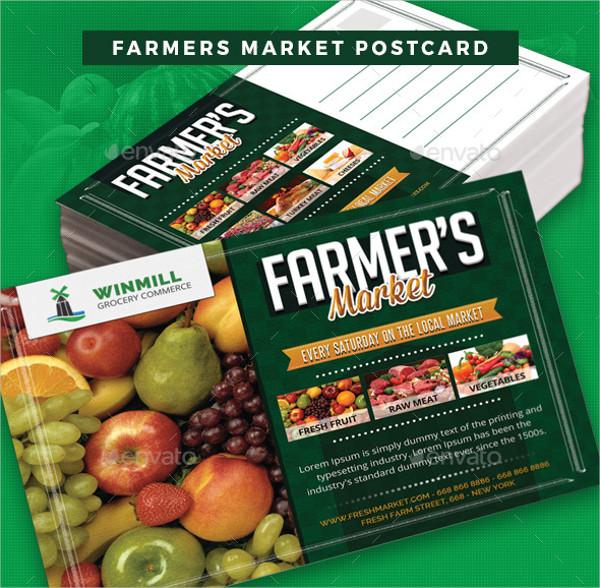 Farmers Marketing Postcard Templates