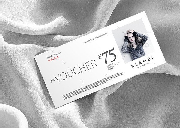 Attractive Fashion Gift Voucher