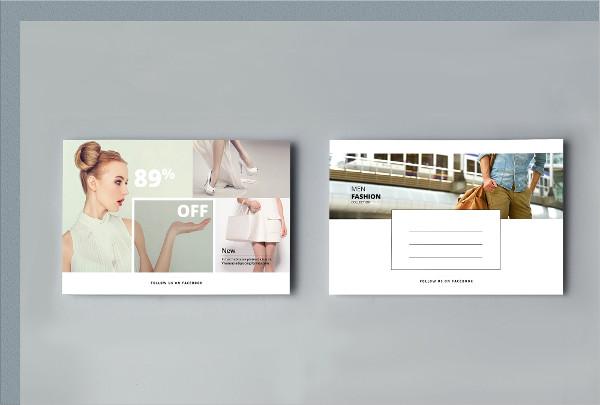 Fashion Marketing Postcard Template