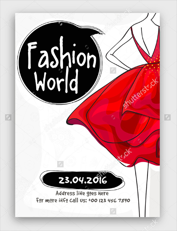 Fashion World Flyer Template Design