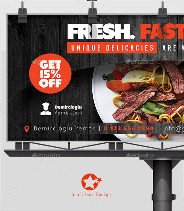 Editable Restaurant Billboard Templates