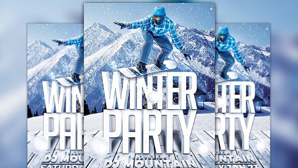 27+ Winter Party Flyers