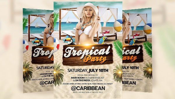 25+ Tropical Party Flyers