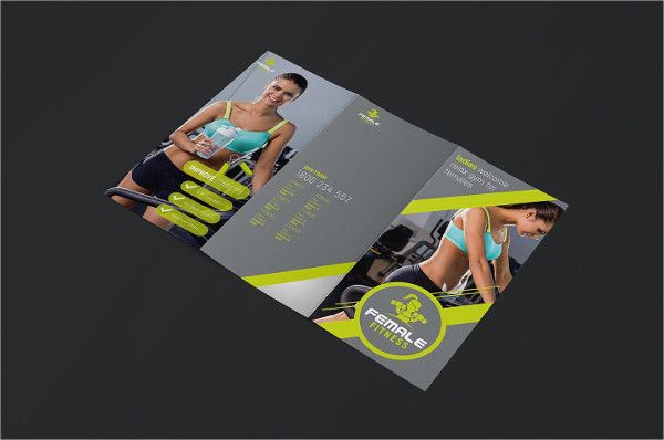 Female Fitness Brochure Template