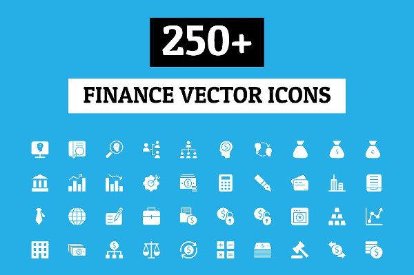 250 Finance Vector Icons Set