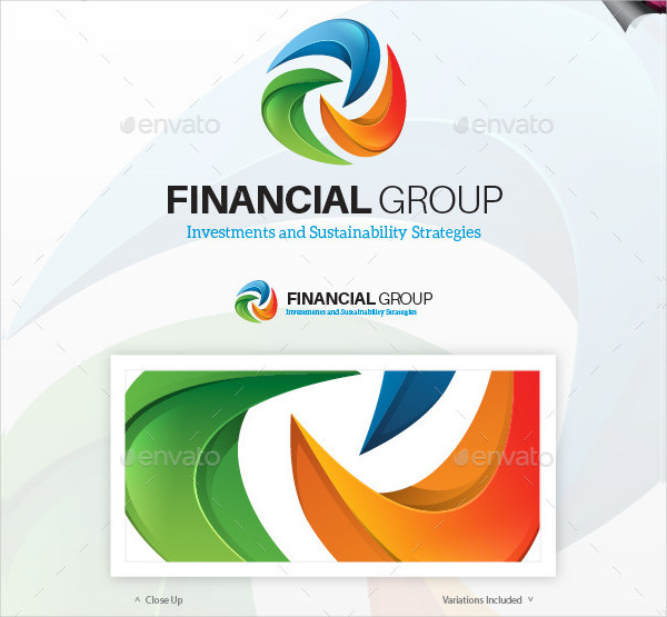Financial Group Logo Template