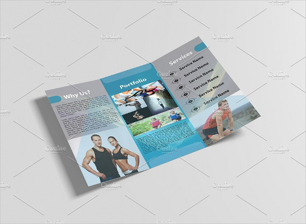 Printable Fitness & Gym Brochure Design