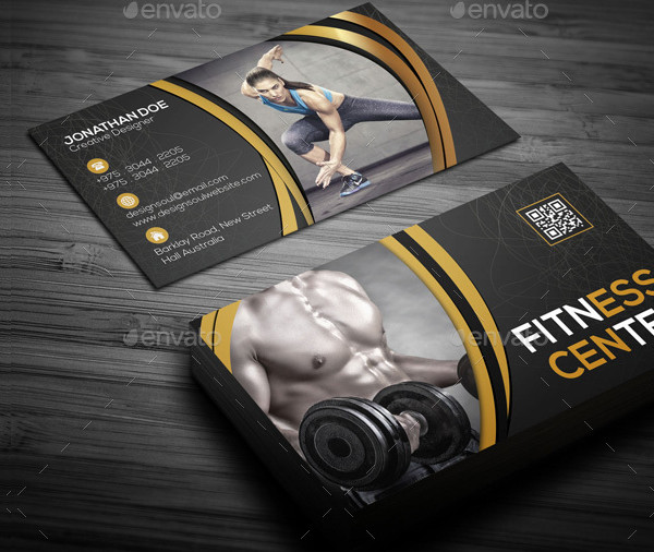 25 fitness business card templates free premium download fitness center business card template fbccfo Images