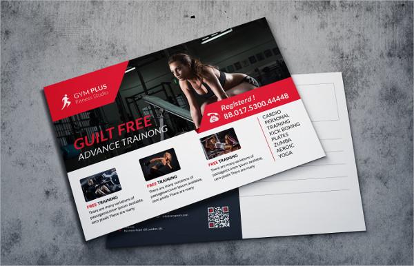 Fitness Marketing Postcard Template