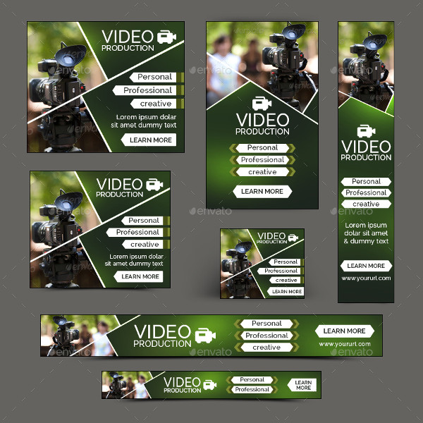 Flat Design Photography Banners