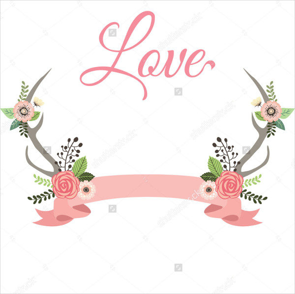 Flowers Banner for Wedding