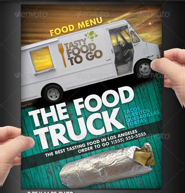 Food Truck Menu Flyer Design