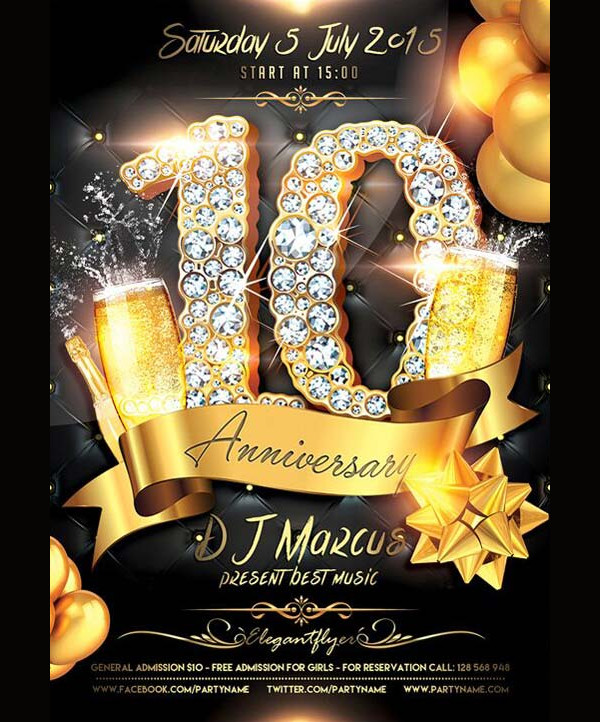 Free Anniversary Celebration Flyer Template