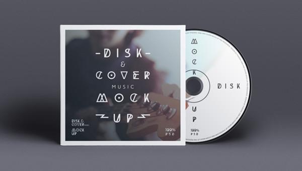 Free CD Disk PSD Mockup