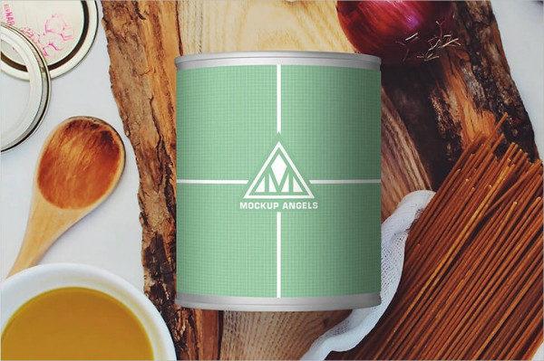 Free Canned Jar PSD Mockup