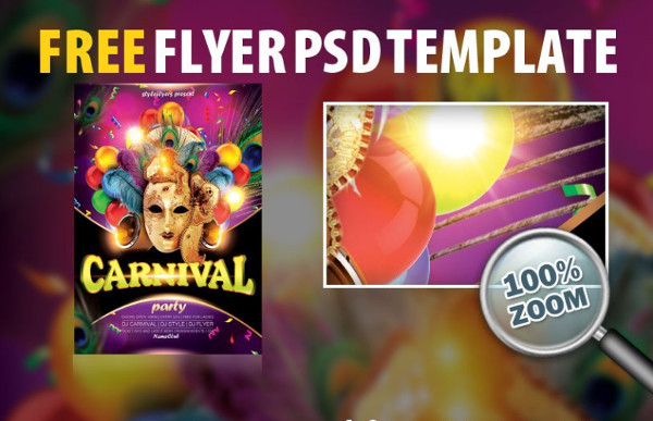 Free Carnival PSD Flyer Template