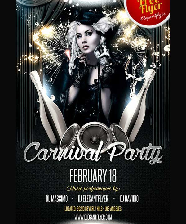 Free Carnival Party PSD Flyer Template