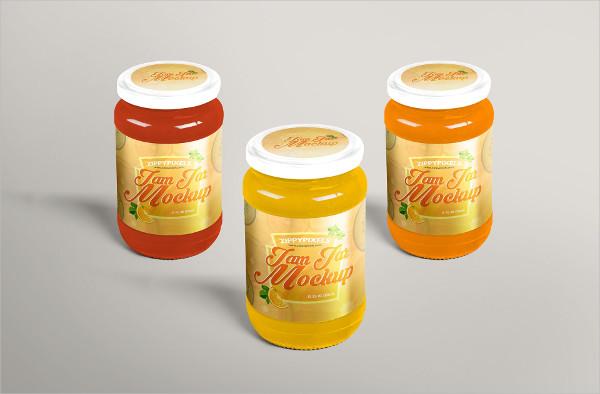 Free Delightful Jam Jar Mockup