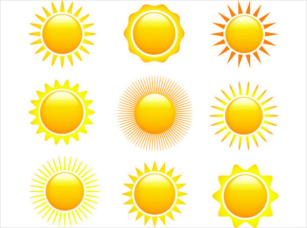 Free Sun Vector Design Icons