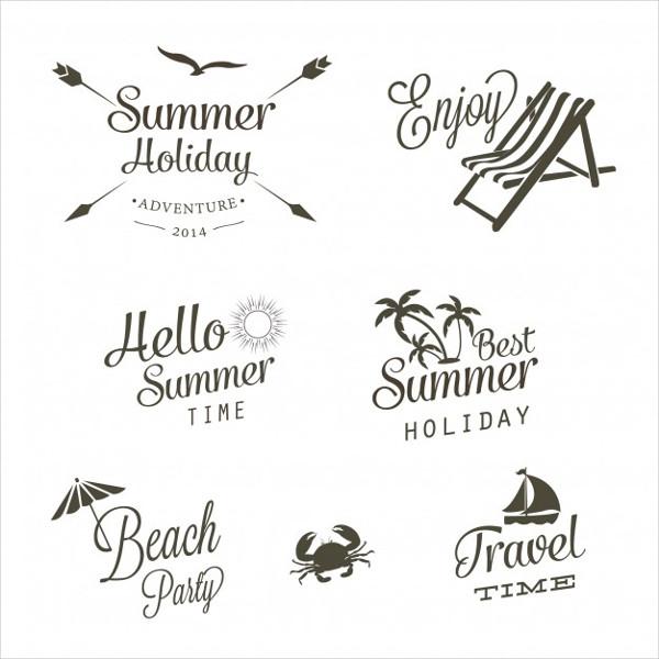 Free Download Beach Logos Vector
