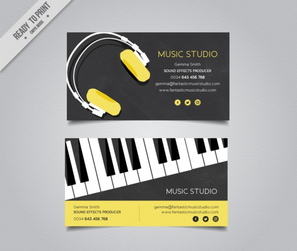 Free Download DJ Producer Business Card Template
