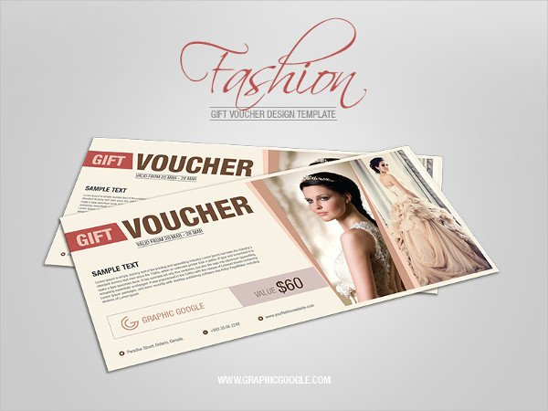 Free Fashion Design Gift Voucher Template