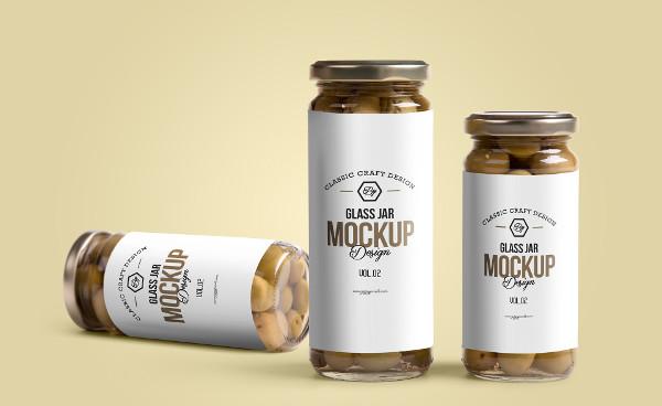 Free High Quality Glass Jar Mockup