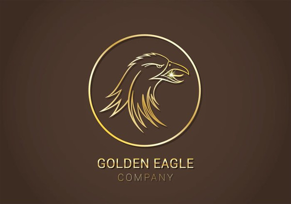 Free Golden Eagle Vector Logo Template