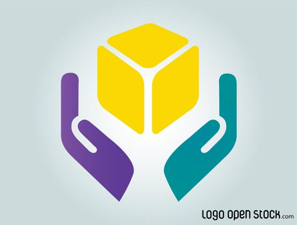 Free Hands Colorful Logo Template