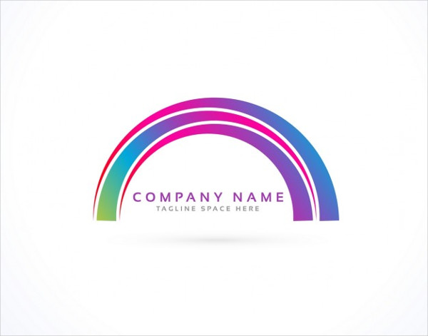 Free Logo with a Rainbow