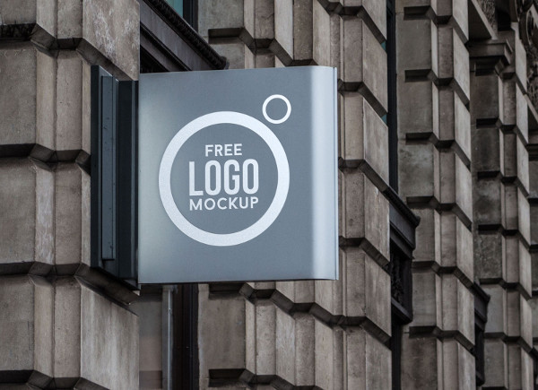 Free Outdoor Advertisment Shop Sign Mockup