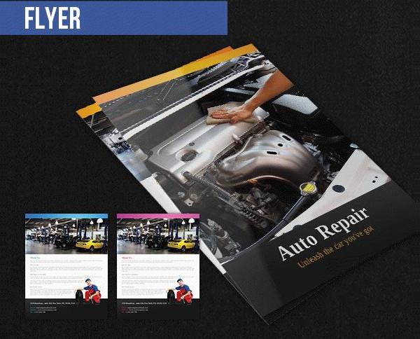 Free PSD Auto Repair Templates Pack