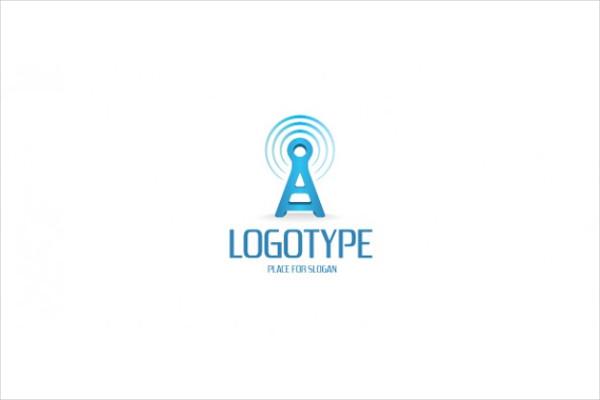 Free PSD Communication Company Logo Template