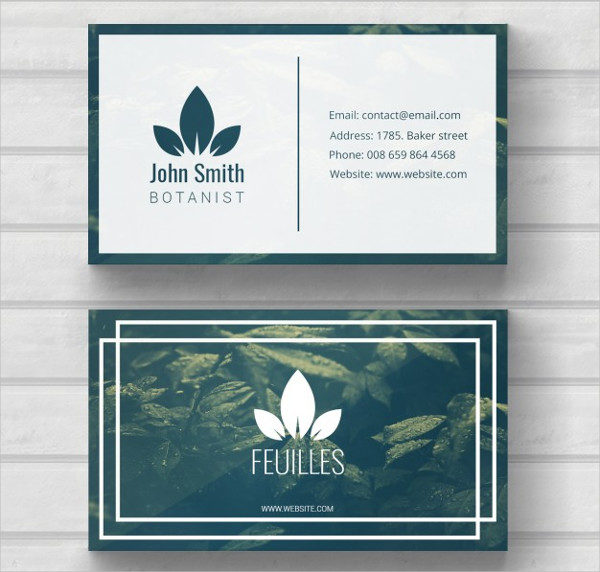Free PSD Nature Business Card Template