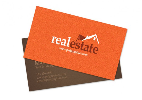 Free PSD Stylish Real Estate Business Card