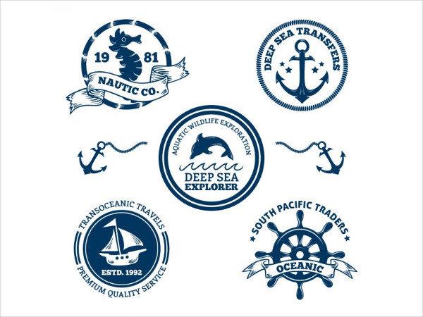 Sea Decorative Badges Pack Free