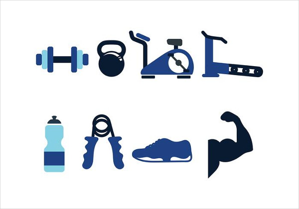Free Set of Fitness Icon Pack Vector