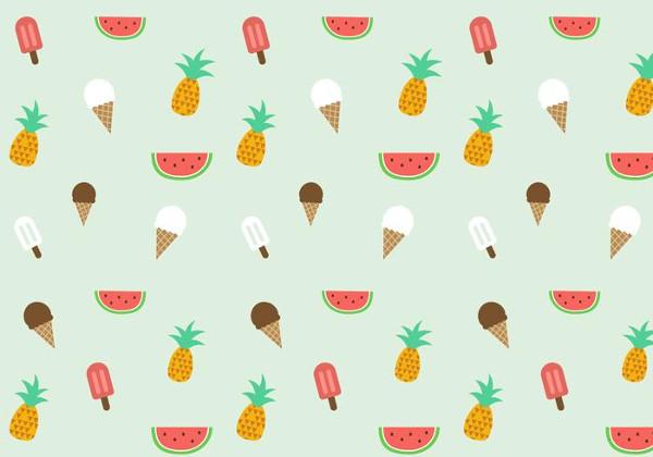 Free Summer Pattern Vector