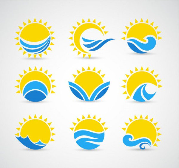 Free Sun & Waves Icons