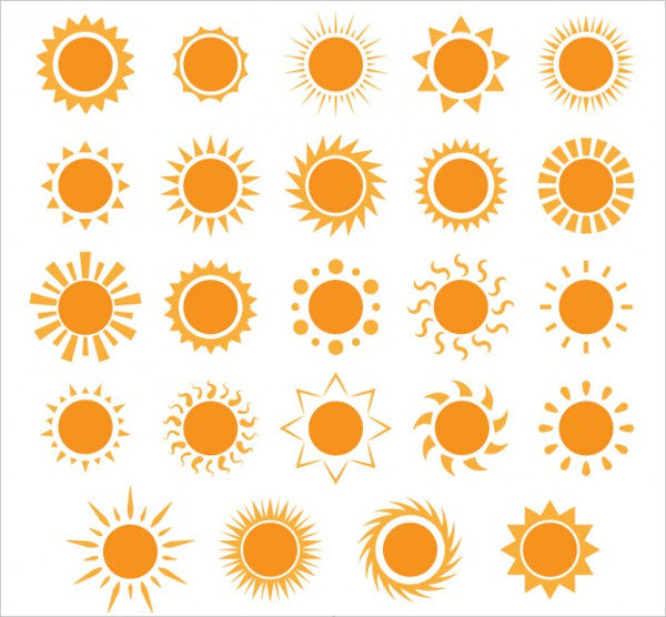 Variety Icons of Sun Free Download