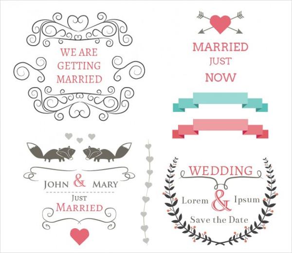 Free Vector Banner Set for Wedding