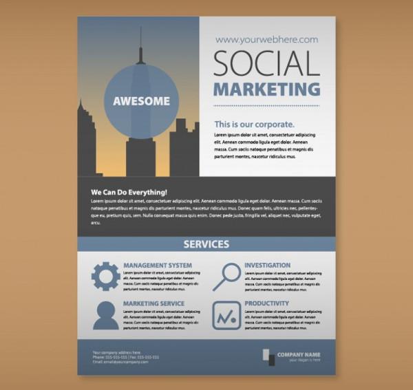 25 social media marketing flyer templates free premium download