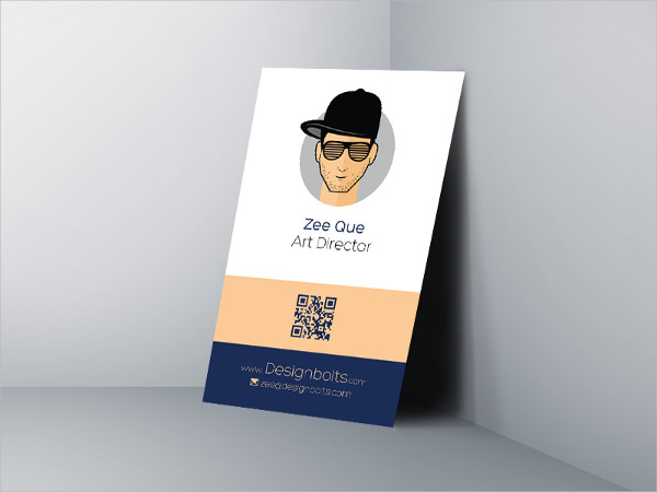 Free Vertical PSD Business Card Design