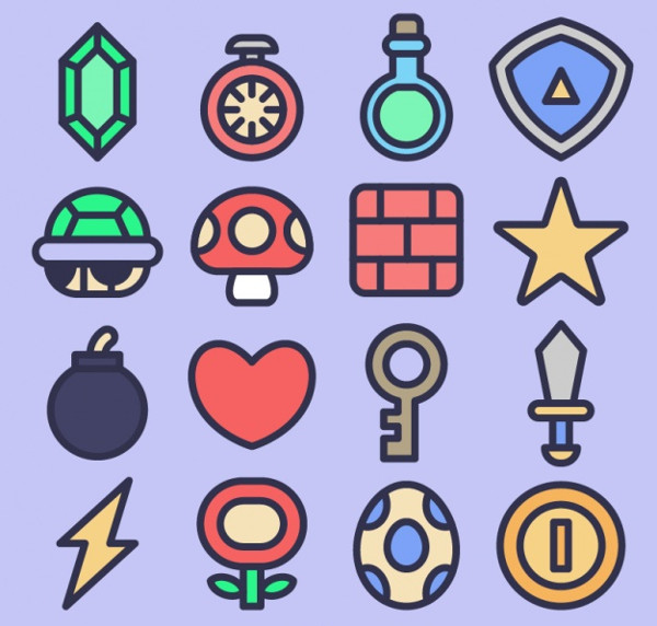 Free Video Game Icon Collection