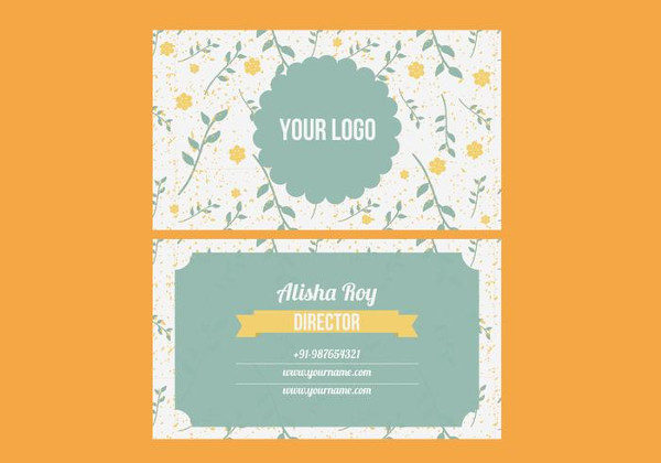 Free Vintage Floral Business Card Template