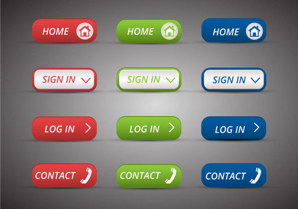 Free Web Buttons Set Vector