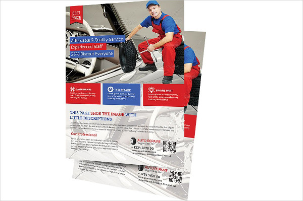 Fresh Auto Repair Flyer Template