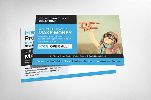 Customizable Business Marketing Postcard