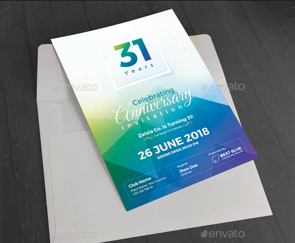 Fully Editable Anniversary Invitation Templates