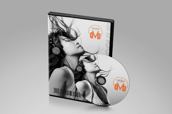 Fully Editable DVD Mockup Design